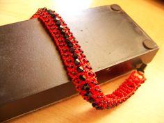 Bransoletka z koralików TOHO.  Więcej na http://lapkamiashy2.blogspot.com/