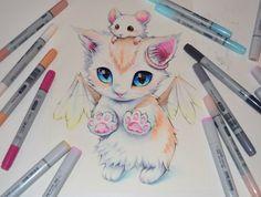 Angel Kitty #artwork #Lighane