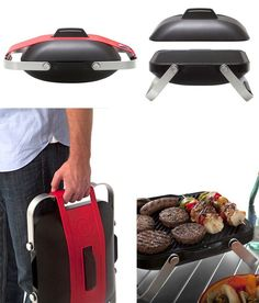 Portable Gas Grill - equipped with a stainless steel burner that heats up to 650 degrees and it offers 159 square inches of grill space. Perfect for picnics, beach, small parties.
