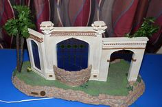 Fontanini Nativity Heirloom Large Stable w stained glass and lighted   eBay