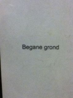 Begane grond