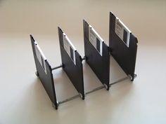 Porta Papéis com Disquetes #diy #floppydisk #disquete #reciclar #reaproveitar