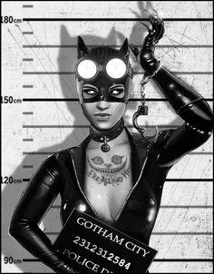 Cat womans mugshot, Petri Rahkola on ArtStation at https://www.artstation.com/artwork/qoGoD