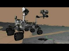 First Rock Contact by Curiosity's Arm...