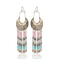 Bohemia Tassel Earrings Vintage Jewelry For Women Vintage Earrings, Vintage Jewelry, Tassel Earrings, Drop Earrings, Gold Earrings For Women, Jewelry Accessories, Women Jewelry, Vintage Colors, Shape Patterns