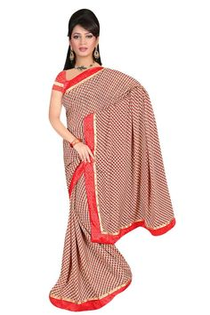 Sakshi Love Story Collection Candy Apple Red Color Georgette Saree (Offer Price: Rs 1250 , Offered Discount: 31%) ** BUY NOW ** [MRP: Rs 1800]