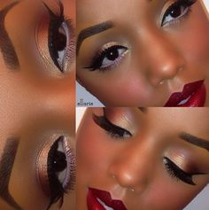 """The gorgeous EllaRie wearing Frankie Rose Cosmetics 5 Shade Eyeshadow Palette """"Down to Earth"""" that's fabulous for spring, fall, winter"""