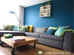 Our colourful living room
