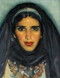 José Cruz Herrera - Retrato de una Joven Marroquí