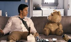 'Ted' starring Mark Wahlberg, Mila Kunis and Seth MacFarlane as Ted in the live action CG animated comedy. Watch the 'Ted' movie in theaters July Seth Macfarlane, Funny Movies, Great Movies, New Movies, Movies And Tv Shows, Awesome Movies, Comedy Movies, Funniest Movies, Excellent Movies
