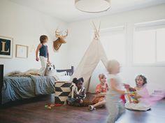 Kid's teepee playroom inspiration by House Inhabit #tipi #teepee #etsy