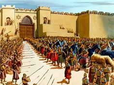 Free Visuals: Elisha and the Syrian army  When Elisha is surrounded by the Syrian army, God's army comes to his rescue. II Kings 6:8-23