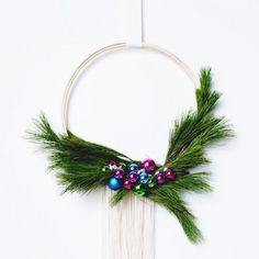 For a last minute holiday DIY, this Scandinavian style wreath is so easy and affordable!