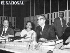 El doctor Mariano Picón Salas en la UNESCO. La fotografía recoge un momento de la reunión del Consejo Ejecutivo de la UNESCO en París, cuando el doctor Picón tomó posesión de su cargo de miembro y representante de Venezuela en dicho Consejo. (CORTESIA UNESCO)