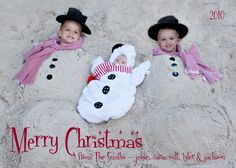 Photo Holiday Christmas Card S N O W M E N by onyourtime on Etsy, $15.00