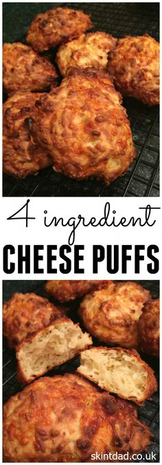 Whether you are after an easy snack, an alternative for the lunch box, a warm treat, or an extra with dinner then this Cheese Puffs recipe may just be for you! (Budget Meals For Four) Healthy Party Snacks, Savory Snacks, Easy Snacks, Easy Meals, Toddler Snacks, Healthy Cookies, Baby Food Recipes, Cooking Recipes, Healthy Recipes