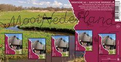 De Drentsche Aa op een postzegelvel