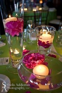 Add one of these Floating Flowers And Candles Centerpieces lighting to your table using one of these simple idea, they are quite affordable that makes a big impact. Floating Candle Centerpieces, Flower Centerpieces, Centrepieces, Submerged Centerpiece, Vases, Floating Flowers, Floating In Water, Submerged Flowers, Wedding Reception Flowers