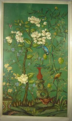 Chinoiserie With Bird, Bob Christian Decorative Art. Love his work.