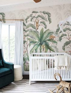 Nursery, Nurseries, Nursery Interior Design, Nursery Design, Nursery Ideas, Gender Neutral Nursery, Neutral Nursery, Nursery Styling, Nursery Decor, Babys Room, Baby Room, Baby Room Ideas, Baby Room Decor, Baby Room Design, Baby Girls Room, Baby Girls Room Ideas, Baby Boys Room, Baby Boys Room Ideas, Interior Design, Home Decor, Home Design Artistic Wallpaper, Modern Wallpaper, Wall Wallpaper, Pattern Wallpaper, Wallpaper Jungle, Nursery Design, Nursery Decor, Wall Decor, Room Decor