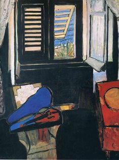 Interior with a Violin, 1918 by Henri Matisse. Expressionism. interior