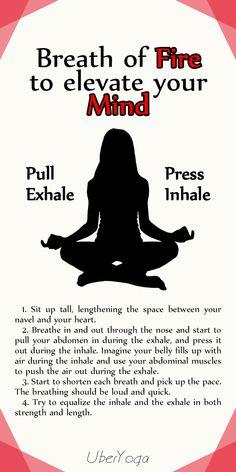 Yoga Breathing Techniques, Yoga Breathing Exercises, Kundalini Yoga, Pranayama, Breathing Meditation, Yoga Meditation, Namaste Yoga, Yoga Terms, Breath Of Fire