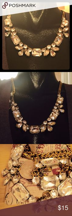 """Steampunk Rhinestone Necklace Absolutely gorgeous estate piece / floral accents rhinestones with gold-toned hardware / adjustable up to 2.5"""" Vintage Jewelry Necklaces"""