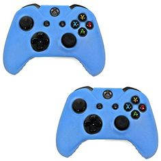 HDE Xbox One 2 Pack Controller Grip Skin Protective Silicone Rubber Cover for Wireless Xbox 1 Gamepad Blue -- Check this awesome product by going to the link at the image.