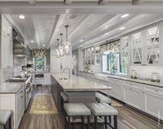 Custom made copper kitchen hoods Elegant Kitchens, Modern Farmhouse Kitchens, Beautiful Kitchens, Dream Kitchens, Beautiful Homes, Kitchen Hoods, Kitchen Cabinetry, Kitchen Worktops, Home Decor Kitchen