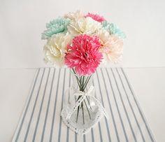 [바보사랑] 화사한 카네이션 화병세트 /Carnation/flower/artificial flower/Mother/Father/Teacher/Thanks/Gift/Vase