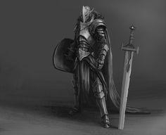 Knight Character Sketch by BABAGANOOSH99.deviantart.com on @DeviantArt