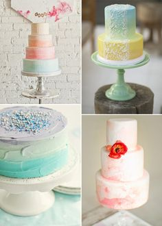 More watercolor cake inspiration