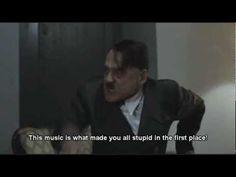 Hitler listens to Skrillex.