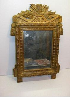 Beautiful mirror in #giltwood. #Vintage mercury glass. End #18th century. For sale on #Proantic by Méounes Antiquités.