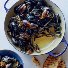 For this steamed mussels recipe, chef Mourad Lahlou makes a luxurious cream sauce perfumed with saffron and citrus zests. It's a fabulous mediterranean take on a classic dish. Get the recipe at Food & Wine.
