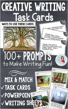 Your students will love the creativity involved with these resources! Writing Lessons, Writing Resources, Teaching Writing, Teaching English, Writing Prompts, Teaching Resources, Writing Ideas, 6th Grade Writing, Middle School Writing