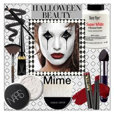 """""""Halloween Beauty: Mime"""" by pat912 ❤ liked on Polyvore featuring beauty, Christian Louboutin, By Terry, Manic Panic NYC, L.A. Girl, MAKE UP FOR EVER, Giorgio Armani, Beauty and polyvoreeditorial"""