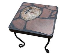 Moroccan Wood A natural stone topped folk art table featuring a slab of petrified wood from Morocco on a recycled base - Edit Listing - Etsy Accent Tables, Petrified Wood, Recycled Materials, Morocco, Natural Stones, Folk Art, Recycling, Base, Popular Art