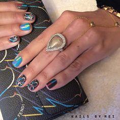 Fendi Bird ⭐️ @armpartyhq #handpainted #nailsbymei #fendi #fashionweek