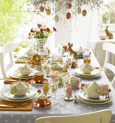 Easter dinner table