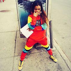 Teyana Taylor wearing Air Jordan XVI 16 Ginger