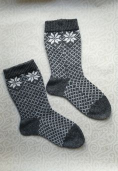 SALE: Wool hand-made socks with ribbed top by LanaNere on Etsy