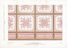 The Prints Collector :: Antique Print-DECORATION-ORNAMENT-19TH C.-3-ENAMELLED IRON-CEILING-Allen-1890