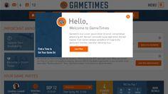 GameTimes - Welcome Message popup