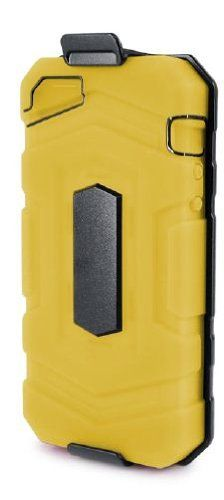 i-Blason RainDrop Series Dual Layer Holster Stand Case for Apple New iPhone 5 4G LTE With Locking Belt Swivel Clip with Bonus Bubble Free Screen Protector (Sprint, AT, T-Mobile, US Cellular, Verizon and International Carriers) (Yellow)