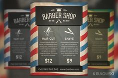 Check out Barber Shop Retro Flyer by Krukowski on Creative Market