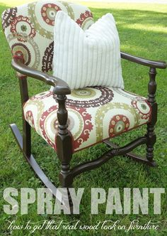 10 Spray Paint Tips: what you never knew about spray paint (like how to spray paint furniture to look like wood!). Great tips! Check this out!