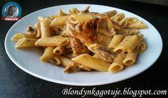 Blondynka Gotuje: Penne pełnoziarniste z kurczakiem w sosie śmietano...