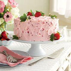Strawberry Cake Recipes: Strawberry-Lemonade Layer Cake