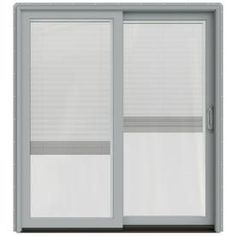 Jeld-Wen W-2500 71.25-In Blinds Between The Glass Arctic Silver Wood S